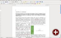 LibreOffice 4.2 Writer mit einem Dokument
