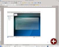 LibreOffice Writer mit Screenshot von KMail