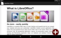 LibreOfficeViewer auf einem Android-Tablet