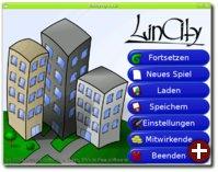 Der Startbildschirm von LinCity-NG