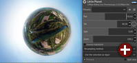»Little Planet«-Filter in Gimp 2.10.6