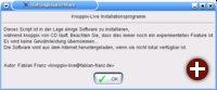 Der Knoppix Live-Installer