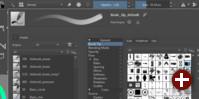 Live-Vorschau auf Pinsel in Krita 4.0