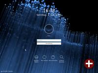 Login-Bildschirm von KDE