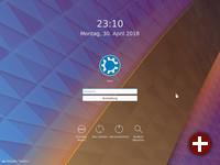 Login-Bildschirm von Kubuntu 18.04 LTS
