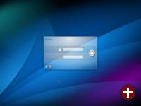 Der optisch erneuerte Login-Bildschirm