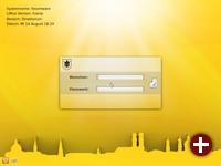 Login-Bildschirm von LiMux