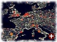 Rote Punkte zeigen Linspire-Wachstum