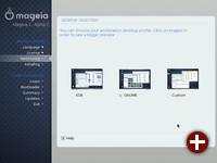 Auswahl des Desktops (Testversion)