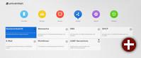 Management-Oberfläche von UCS 4.0 mit farblicher Kennzeichnung der Kategorien und aufgeräumter Struktur