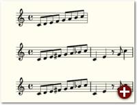 Beispiel 1: Mehrere Tonleitern mit LilyPond