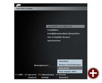 Menü für wichtige Startparameter: Der Isolinux-Boot-Loader von Ubuntu, Open Suse und anderen bietet ein Menü für Boot-Optionen, die Sie mit den F-Tasten aus einer Liste auswählen