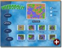 Startmenu von Micropolis