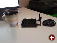 MintBox Mini 2 im Größenverhältnis
