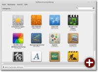 Mit der Softwareverwaltung MintInstall kann man in der riesigen Programmauswahl von Debian stöbern