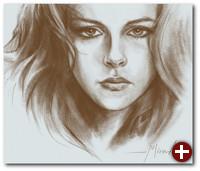 Mit MyPaint erstelltes Portrait