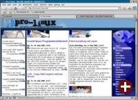 Mozilla mit Tabs und Pinball-Skin