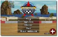 Der Startbildschirm von Mad Skills Motocross