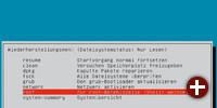 Menü des Recovery-Modus von Ubuntu
