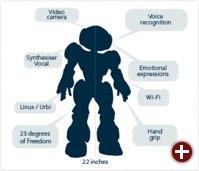 Funktionsblöcke des Roboters Nao