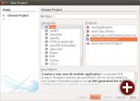 Neuer Projekttyp »Java Modular« in NetBeans 9.0