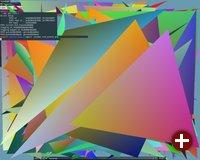 Dreiecke demonstrieren die Machbarkeit der 3D-Ausgabe