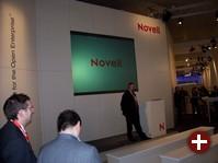 Stand von Novell auf einer Messe