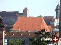 Nürnberg: Blick von der Innenstadt auf die Burg