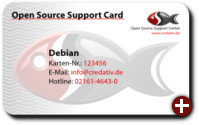 Open Source Support Card von Credativ