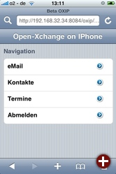 Open-Xchange-Client für Apples iPhone