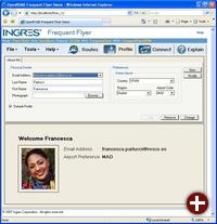 Mit OpenRoad erstellte Web-Anwendung