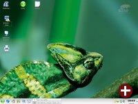 Desktop von openSUSE nach der Installation