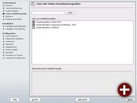 Eingabe von zusätzlichen Online-Repositorien vor der Installation