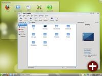 Der Standard-Desktop von OpenSuse 11.2 - KDE 4.3.1