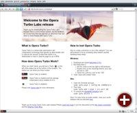Opera 10 - mobil surfen mit Opera Turbo