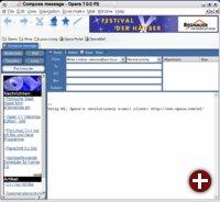 Die neueste Version des Opera-Browsers mit einem integrierten E-Mail-Client