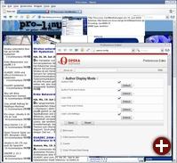Opera 9 mit einer Tab-Vorschau und manueller Konfiguration