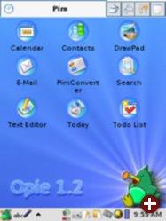 Opie - grafische Umgebung für Handhelds