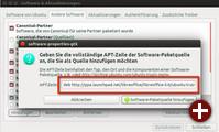 Passende Paketquelle angeben und Updates werden automatisch im System berücksichtigt
