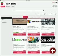 Pi Store: Anwendungsmenü