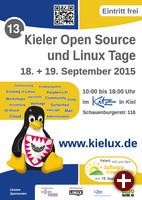 Plakat der Kieler Open Source- und Linux-Tage 2015