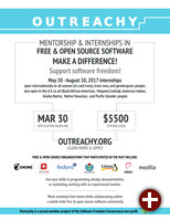 Plakat des Outreachy-Programms Mai 2017