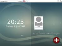 Das gleiche Design in den Login-Bildschirmen und Desktops