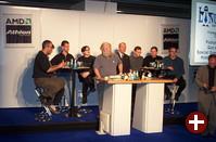 Podiumsdiskussion auf der LinuxWorld Expo 2000