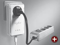 Powerline-Adapter: Achten Sie auf Modelle mit integrierter Steckdose, ferner je nach Bedarf auf Ausführungen mit mehreren Ethernet-Ports, also mit integriertem Switch