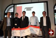 Preisverleihung mit Peter Ganten, Raphael Hiesgen, Dennis Jansen, Sebastian Roland und Jan Kleinert