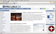 Pro-Linux im Pale Moon-Fenster
