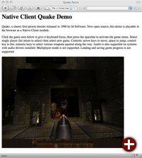 Shooter »Quake« als Beispiel einer Native-Client-Anwendung