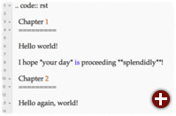 Quasi druckreif: Code-Beispiel für reStructuredText