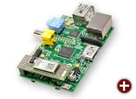Raspberry Pi mit dem RaspBee (vorne)